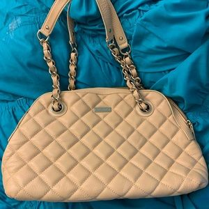 Kate Spade cream leather tote purse